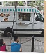 Food Trucks  Wood Print