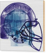 Football Helmet, X-ray Wood Print