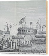 Fulton Steam Frigate, 1814 Wood Print