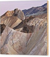 Golden Canyon Death Valley Wood Print