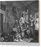 Hogarth: Rakes Progress Wood Print