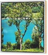 Lake Of Tenno Wood Print