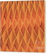 Mathematical Origami Wood Print