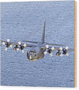 Mc-130p Combat Shadow In Flight Wood Print