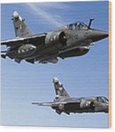 Mirage F1cr Of The French Air Force Wood Print
