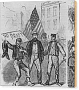 New York: Draft Riots, 1863 Wood Print