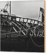 Old Abandoned Ships Wood Print