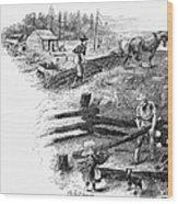 Oregon Trail Emigrants Wood Print