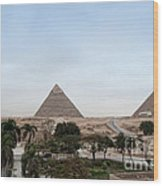 Pyramids Of Giza Wood Print