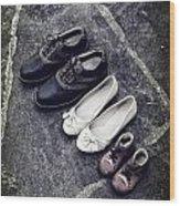 Shoes Wood Print by Joana Kruse