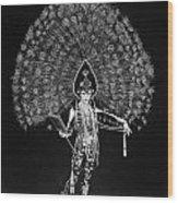 Silent Film Still: Costume Wood Print