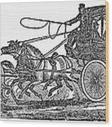 Stagecoach, 19th Century Wood Print