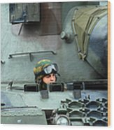 Tank Driver Of A Leopard 1a5 Mbt Wood Print