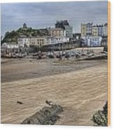 Tenby Harbour From North Beach Wood Print