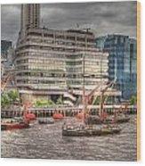 Thames Barges Tower Bridge 2012 Wood Print