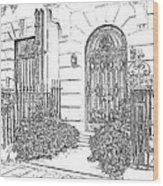 The Doors Of London Wood Print