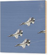 The U.s. Air Force Thunderbirds Fly Wood Print