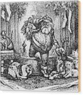 Thomas Nast: Santa Claus Wood Print