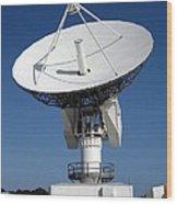 50-foot Dish Antenna At Kennedy Space Wood Print