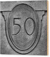 50 Wood Print