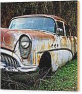 50's Cruiser Of The Past Wood Print by Steve McKinzie