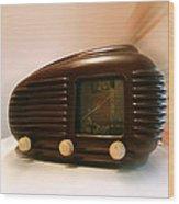 50's Radio Wood Print by Alessandro Della Pietra
