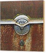 54 Buick Emblem Wood Print by Steve McKinzie