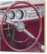 55 Chevy Ss Dash Wood Print