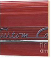 56 Ford F100 Custom Cab Wood Print