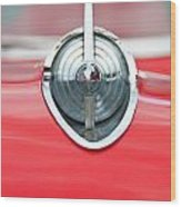 '57 Chevy Hood Ornament 8508 Wood Print