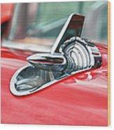 57 Chevy Hood Ornament 8509 Wood Print