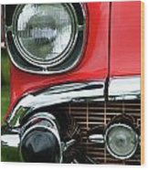 57 Chevy Right Front 8561 Wood Print