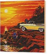 57 Merc Sunset Wood Print