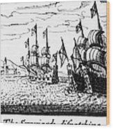 Spanish Armada, 1588 Wood Print