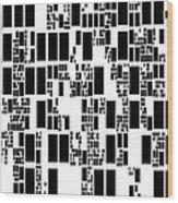Abstract Computer Artwork Wood Print by Mehau Kulyk