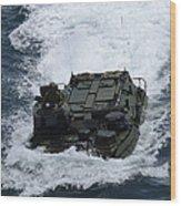 An Amphibious Assault Vehicle Wood Print
