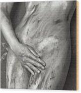 Beautiful Soiled Naked Woman's Body Wood Print