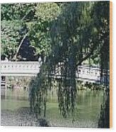 Bow Bridge Wood Print