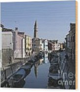 Burano.venice Wood Print by Bernard Jaubert