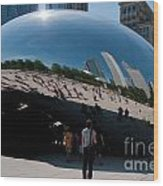 Chicago City Scenes Wood Print