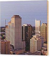 City Skyline Wood Print