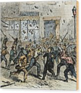 Civil War: Draft Riots Wood Print
