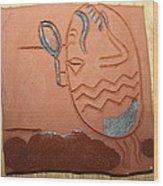 Crazy Pineapple Wood Print by Gloria Ssali