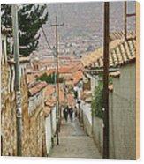 Cusco Peru Street Scenes Wood Print