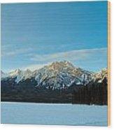 Illuminated Winter Landscape By The Sun Wood Print
