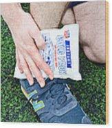 Injured Ankle Wood Print