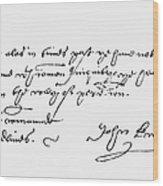John Knox (1505-1572) Wood Print