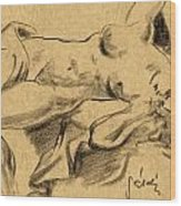Nude Girl Wood Print