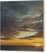 Ocean Sunrise Wood Print