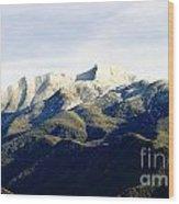 Ojai Valley With Snow Wood Print
